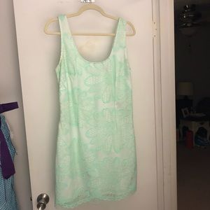Lilly Pulitzer Seafoam Green Floral Lace Dress 👗
